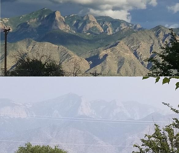 ABQ haze from N. Cali. fires - comparison